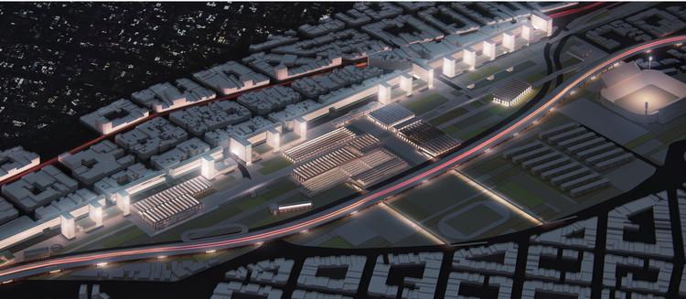 Segundo Lugar Concurso Plano Diretor do Pátio Ferroviário de Liniers, Vista Geral