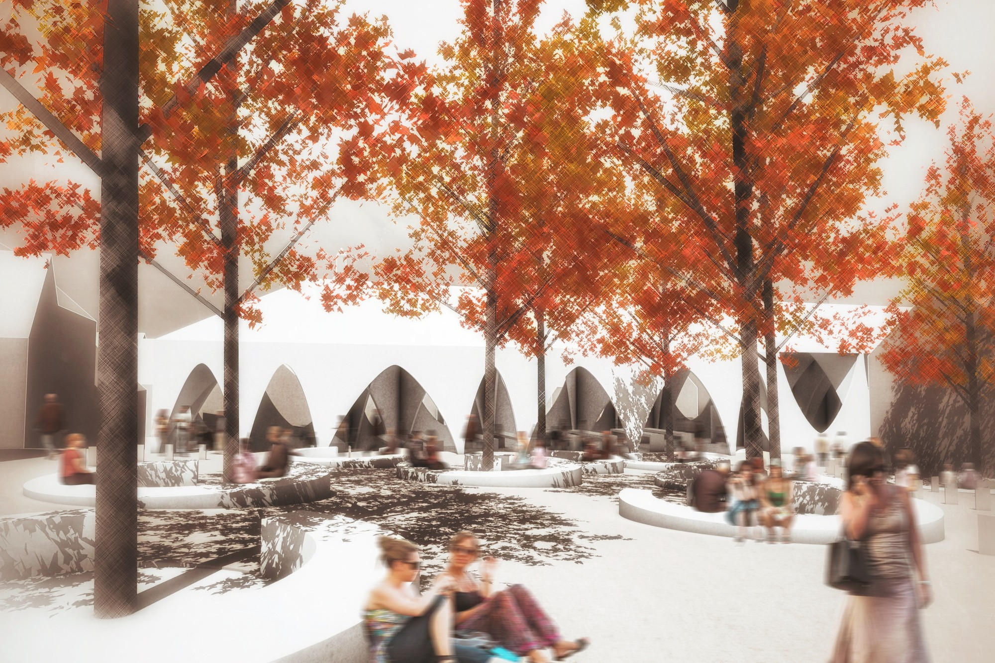 Novo Mesto Central Market Competition Entry / Enota, Courtesy of Enota