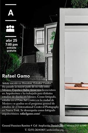 Archivo Diseño y Arquitectura presenta:  Plática con Rafael Gamo / Geometría fotográfica - Espacio, percepción y representación, Courtesy of Archivo