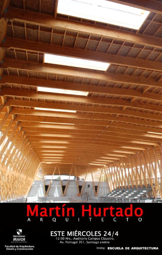 Charla Martín Hurtado: Arquitectura en Madera / U. Mayor, Courtesy of Universidad Mayor