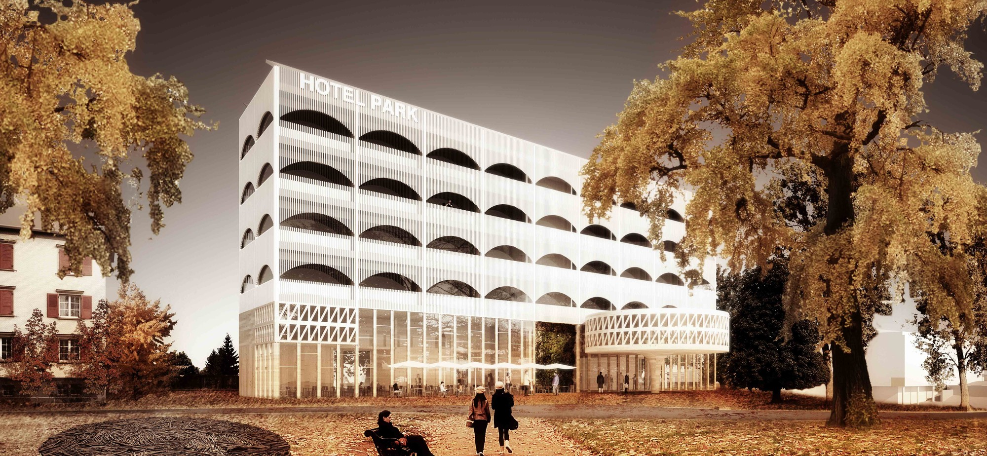 Hotel Park and Seeallee Heiden Competition Entry / Kubota & Bachmann Architects + Martinez, Courtesy of Kubota & Bachmann Architects + Martinez