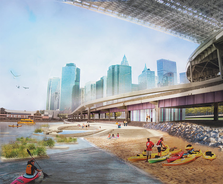 """River to the People"": Plano de Recuperação da Costa de Nova York , Imagem via Architects Newspaper"