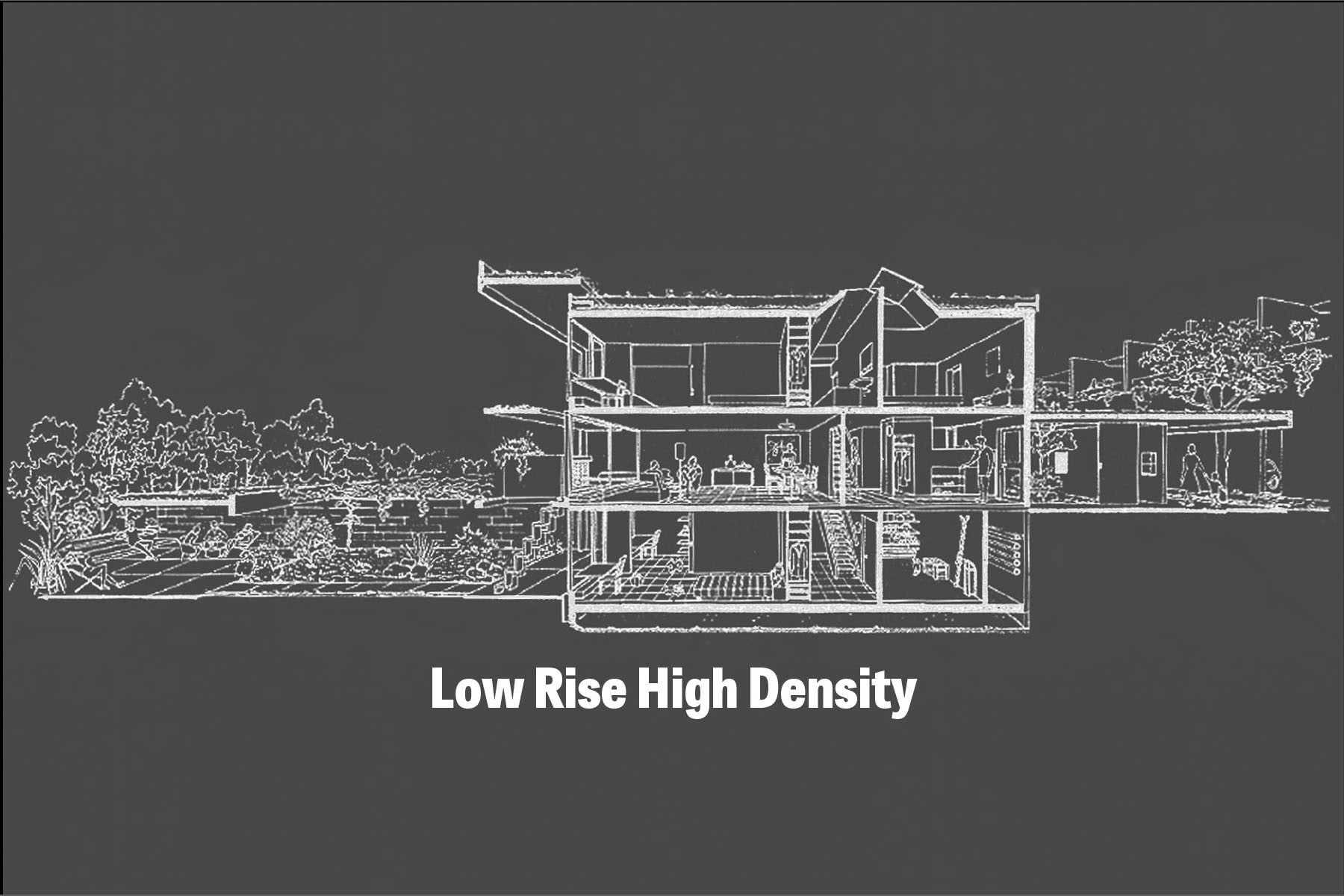 'Low Rise High Density' Exhibition, Courtesy of Center for Architecture & AIA New York