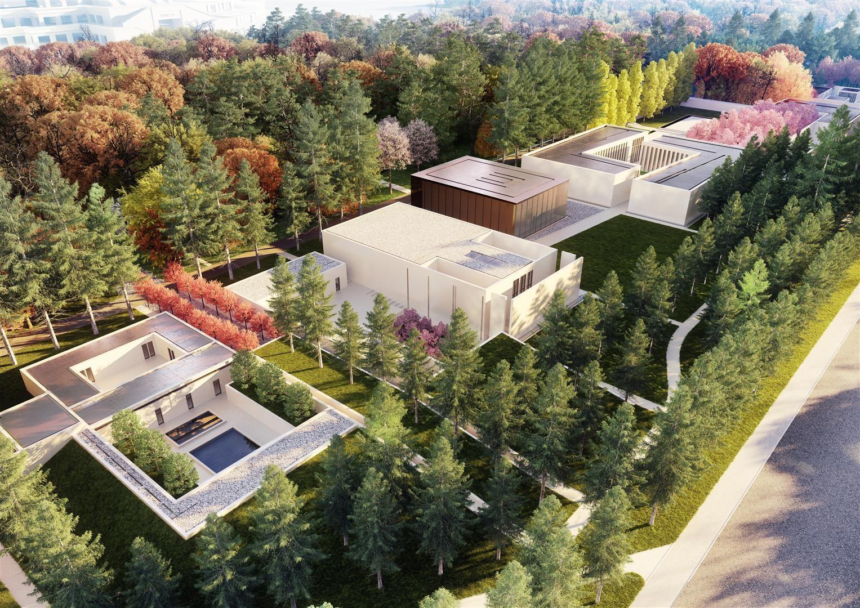 Famen Temple Zen Meditation Center Winning Proposal  / OAC, Courtesy of OAC