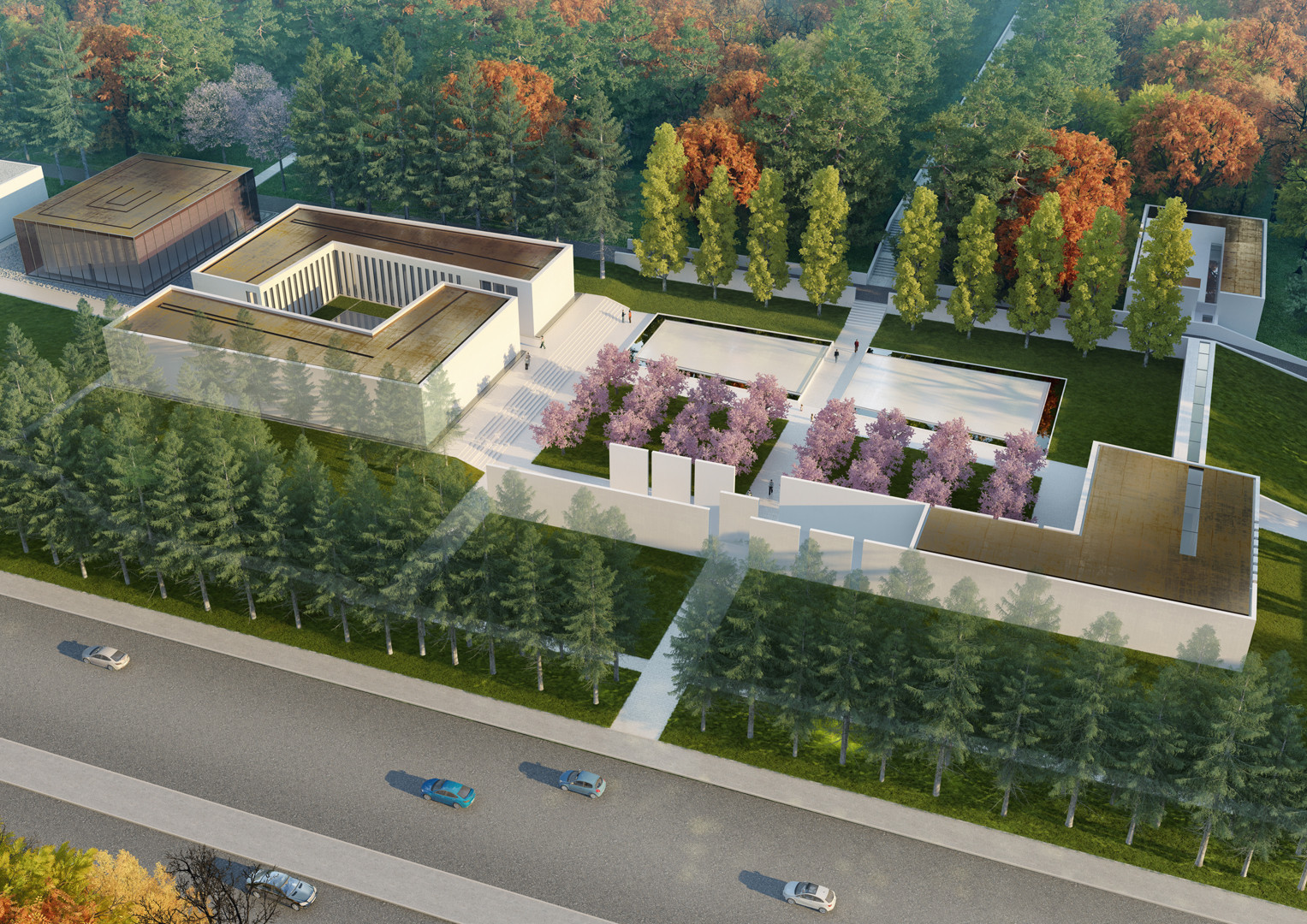 Famen Temple Zen Meditation Center Winning Proposal OAC ArchDaily - Temple landscape architecture
