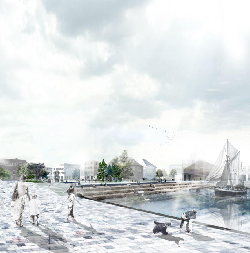 HOBRO – 'A City Finds its Lake' Winning Proposal / Holscher Arkitekter, Courtesy of Holscher Arkitekter