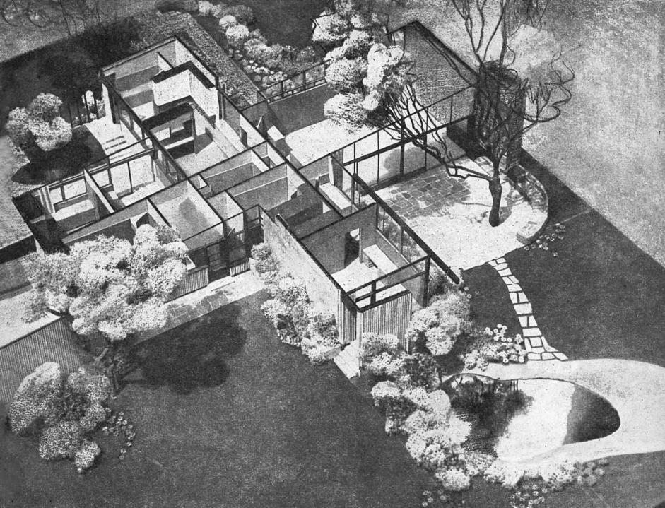 Build Your Own Neutra Home – Richard Neutra Kaufmann House Floor Plans