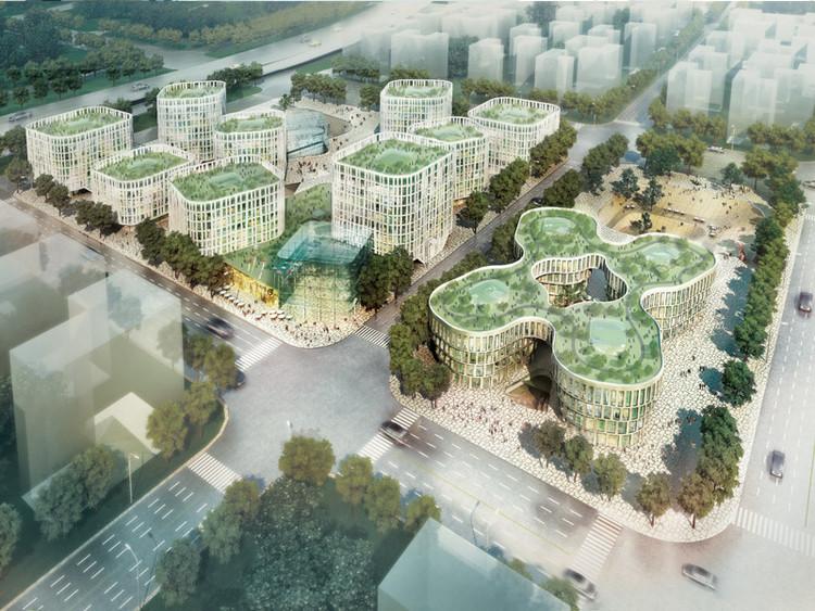 Projeto Ganhador para o Distrito Empresarial de Hongqiao / MVRDV, © MVRDV