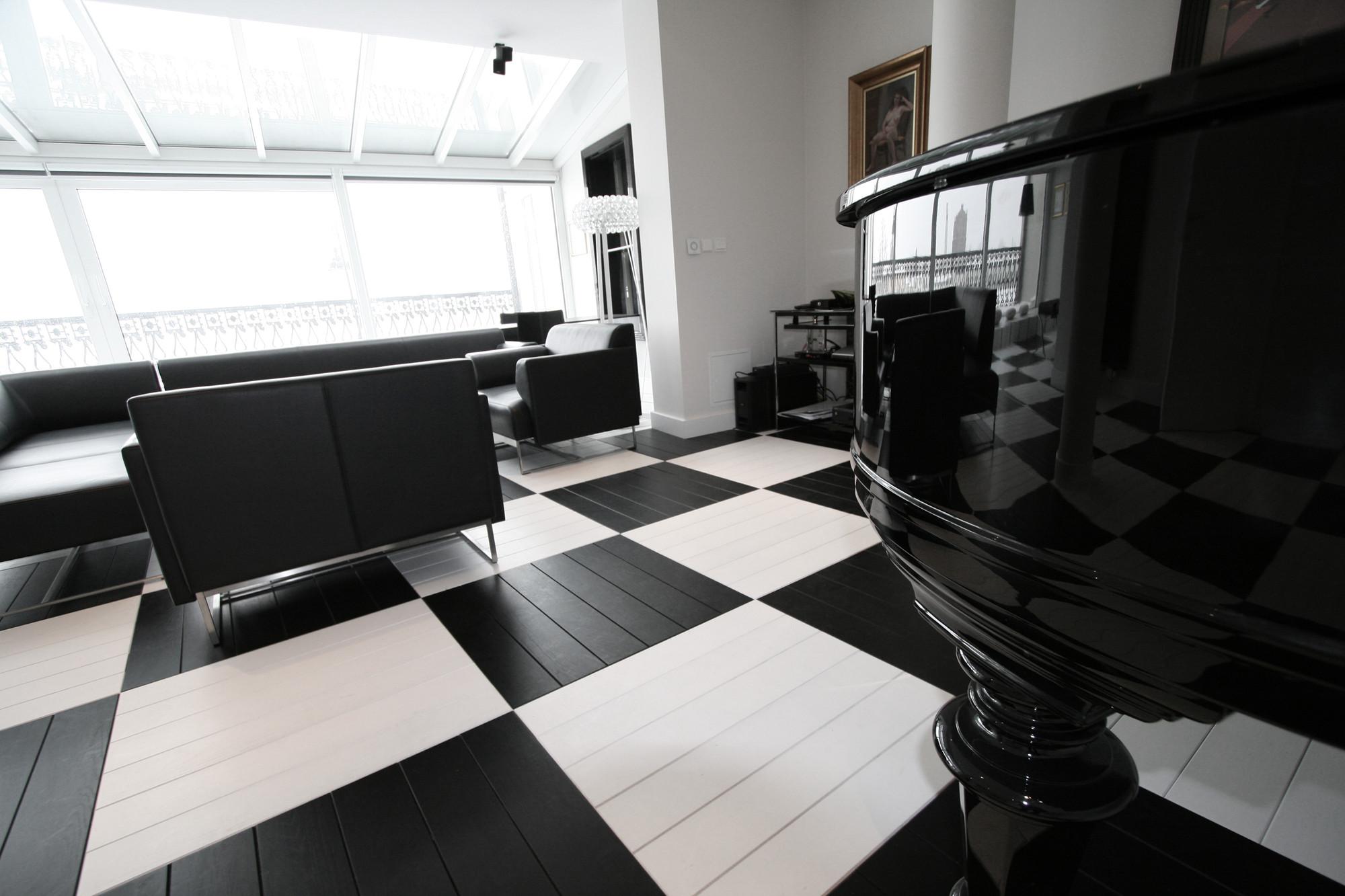 black and white office design. Courtesy Of TOYA Design Black And White Office I