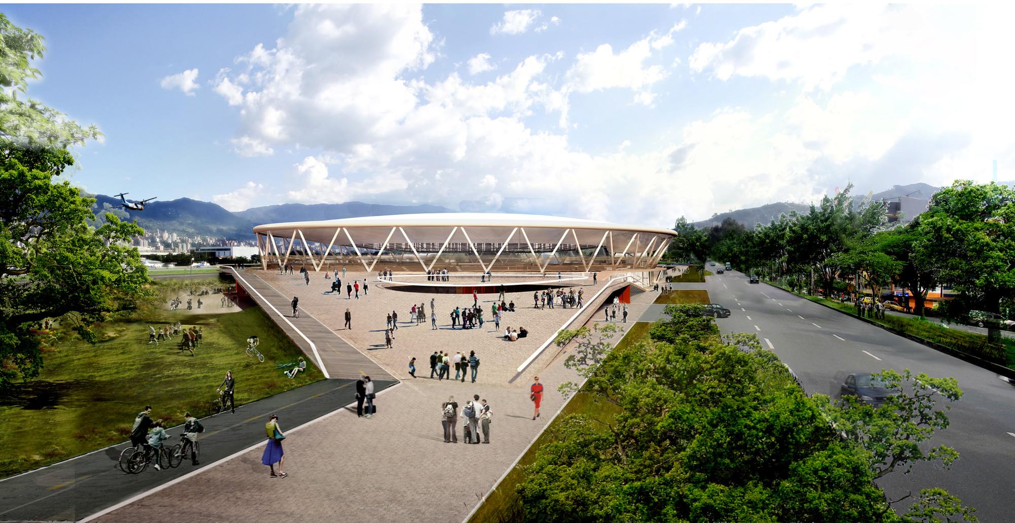 Segundo Lugar Concurso Nuevo Velódromo de Medellín, Courtesy of MTM Arquitectos