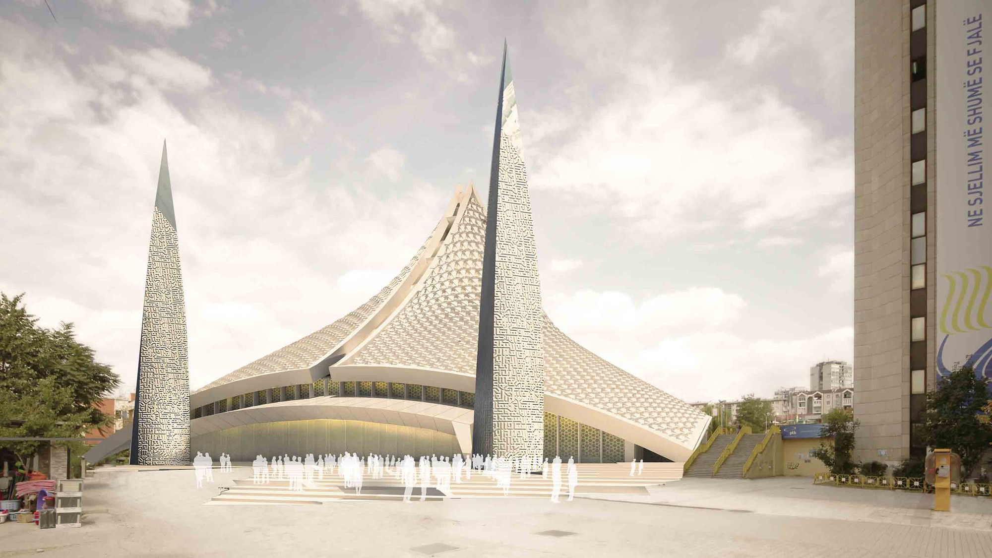 Central Mosque of Pristina Competition Entry / Victoria Stotskaia, Raof Abdelnabi, Kamel Loqman, Courtesy of Invert Studios