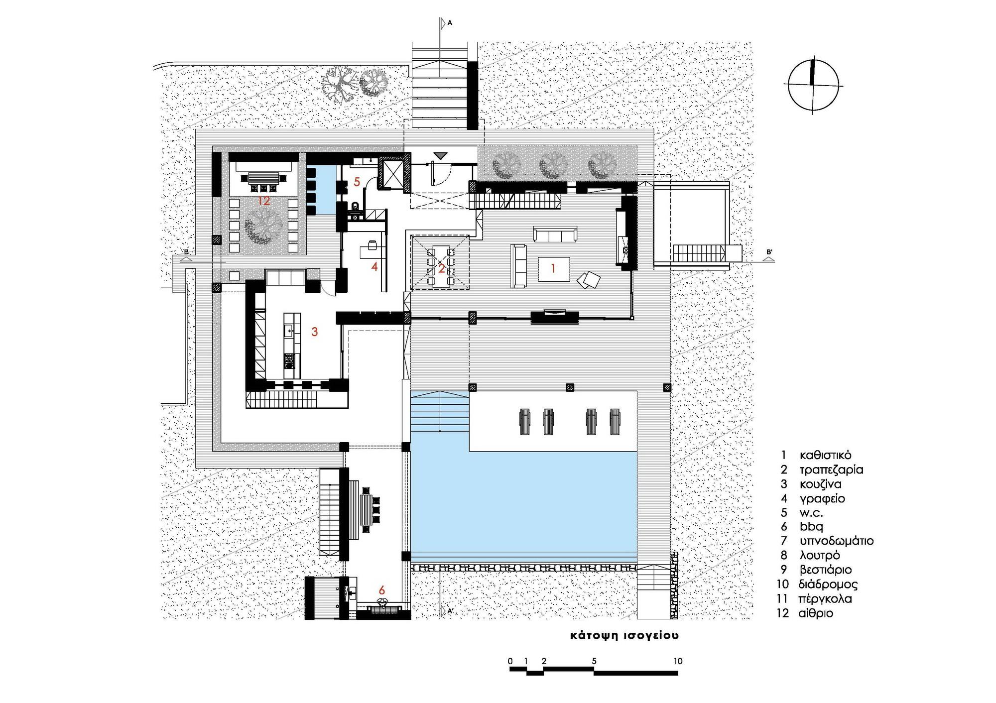 Gallery of Stone House In Anavissos Whitebox Architects 41 – Stone House Floor Plans