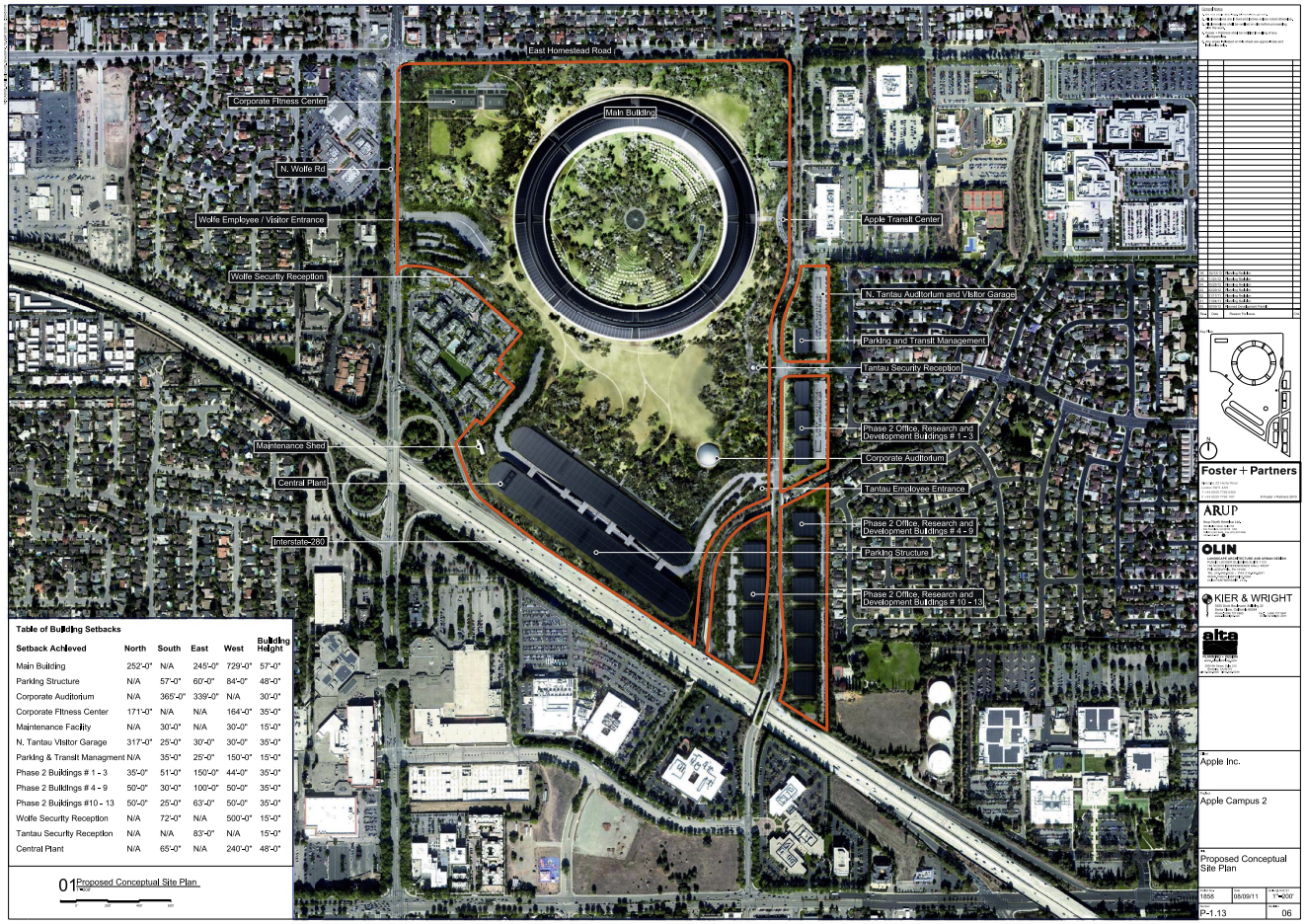 Updated Plans Released for Foster Partners Apple Campus in