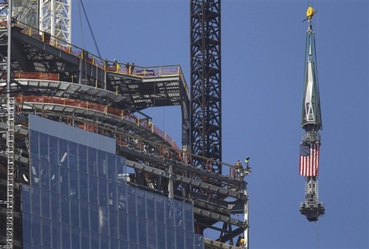One World Trade Center Will Soon Top Out at 1,776 Feet, © Gary Hershorn / Reuters via NBC