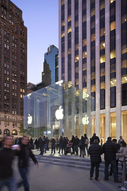 Bohlin Cywinski Jackson Honored with Lifetime Achievement Award, Apple Fifth Ave © Esto; Courtesy of Bohlin Cywinski Jackson