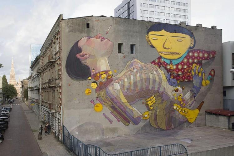 """""""Galeria Urban Forms"""": Galeria de arte urbana ao ar livre em Lodz, Polônia, Imagem via galeriaurbanforms.org"""