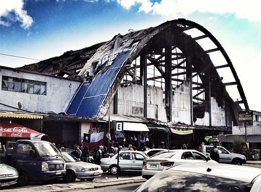 Mercado de Concepción: Carta de Luis Eduardo Bresciani, Presidente del Colegio de Arquitectos de Chile, © Giuliano Pastorelli