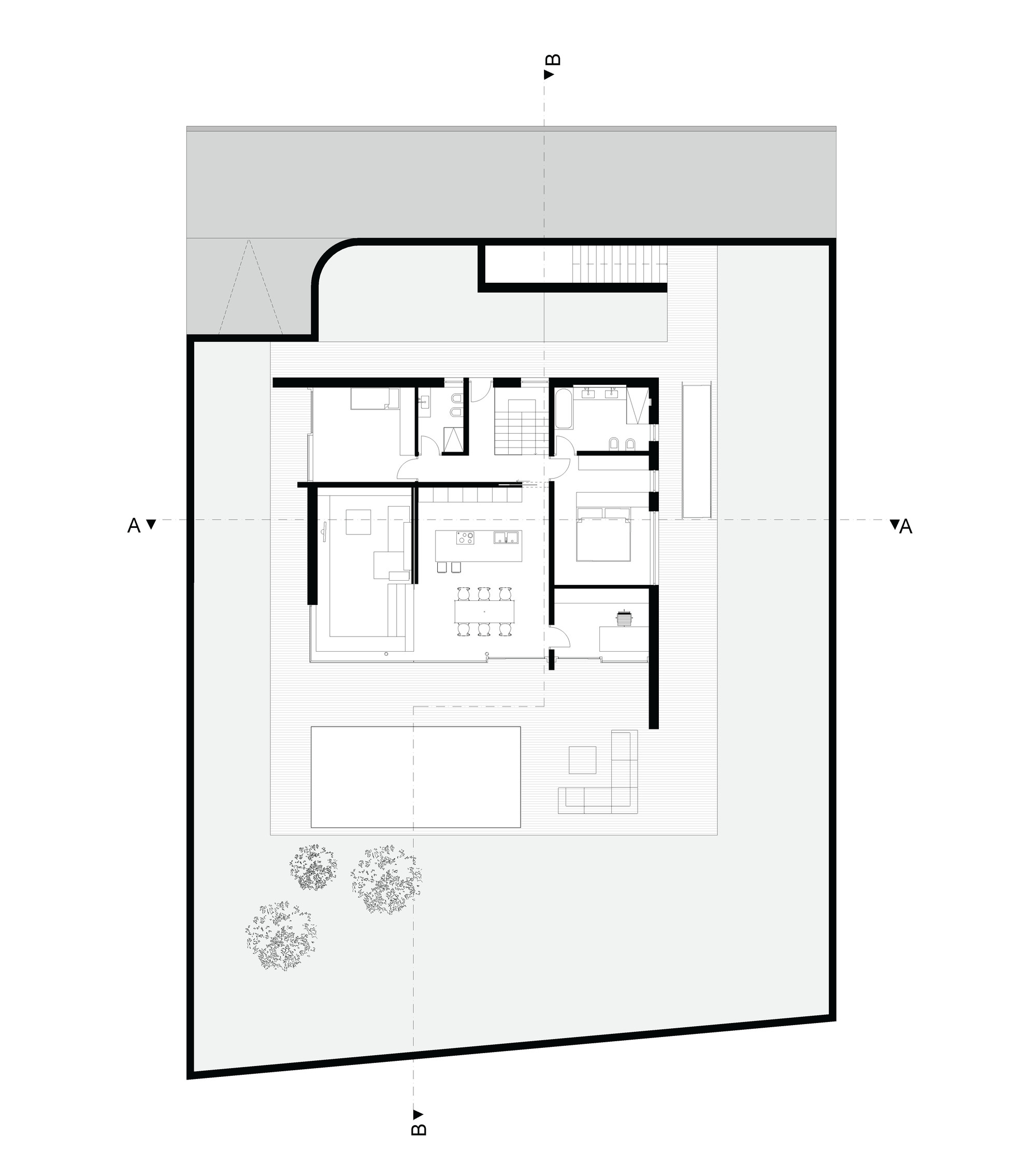 Gallery of m2 house monovolume architecture design 21 for Floor plans architecture
