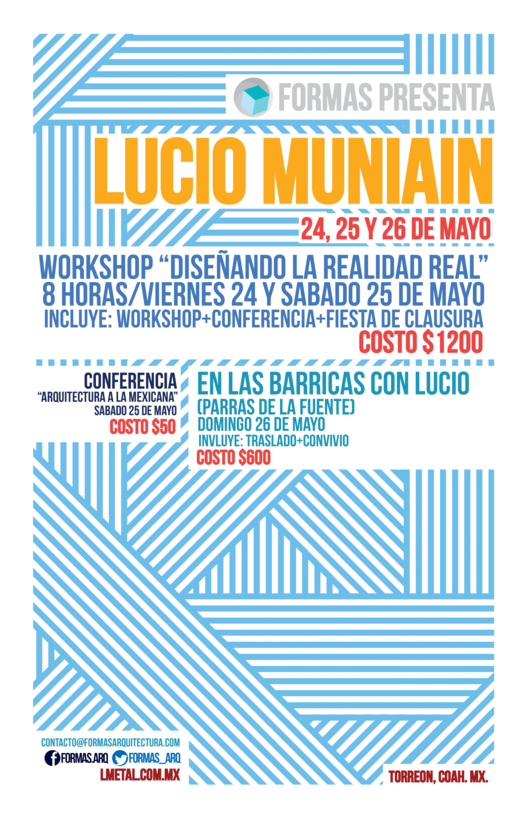 Conferencia, Workshop y Visita de Obra / Lucio Muniain