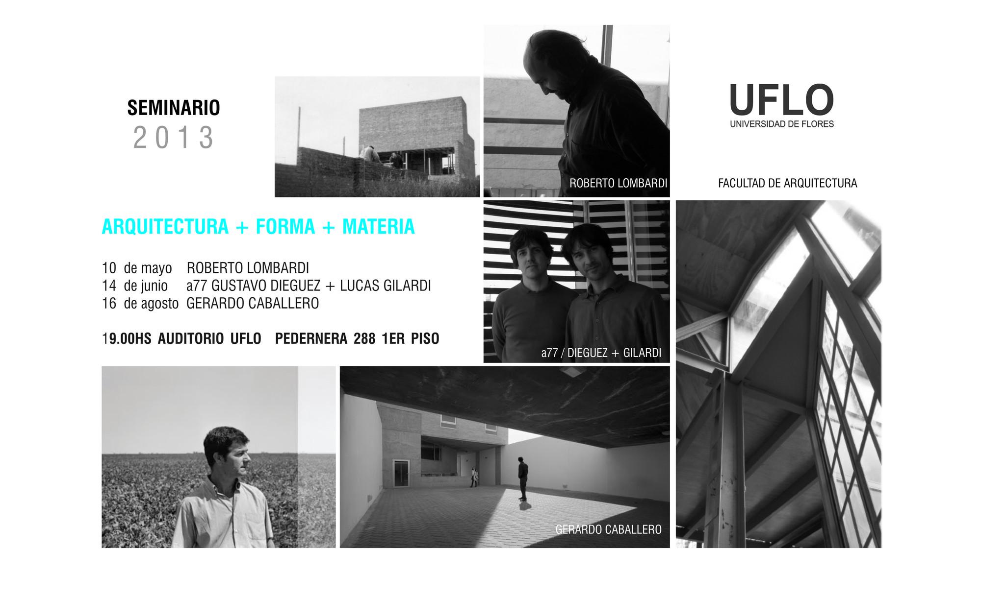 "Seminario ""Arquitectura + Forma + Materia"" / UFLO Buenos Aires, Courtesy of UFLO"