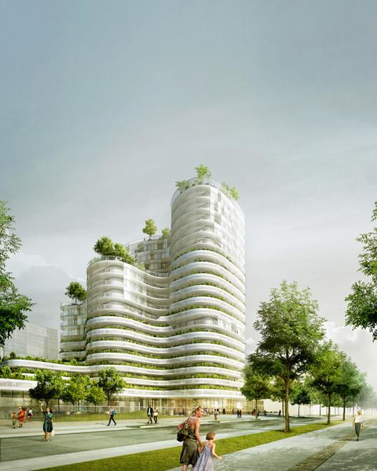 Proposta Vencedora Unidades Habitacionais em Nantes / Hamonic + Masson, Cortesia de Hamonic + Masson