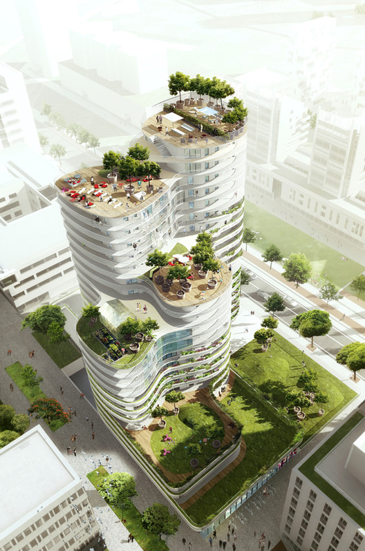 Proposta vencedora unidades habitacionais em nantes for Contemporanea sinonimo