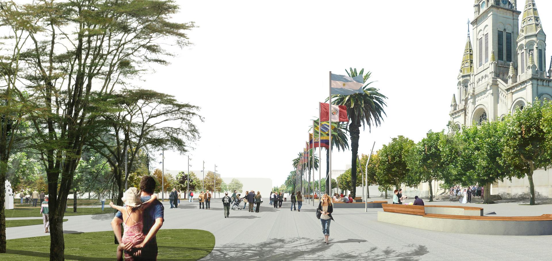 Primer Lugar Concurso Plazas Mitre y Alsina, Vista