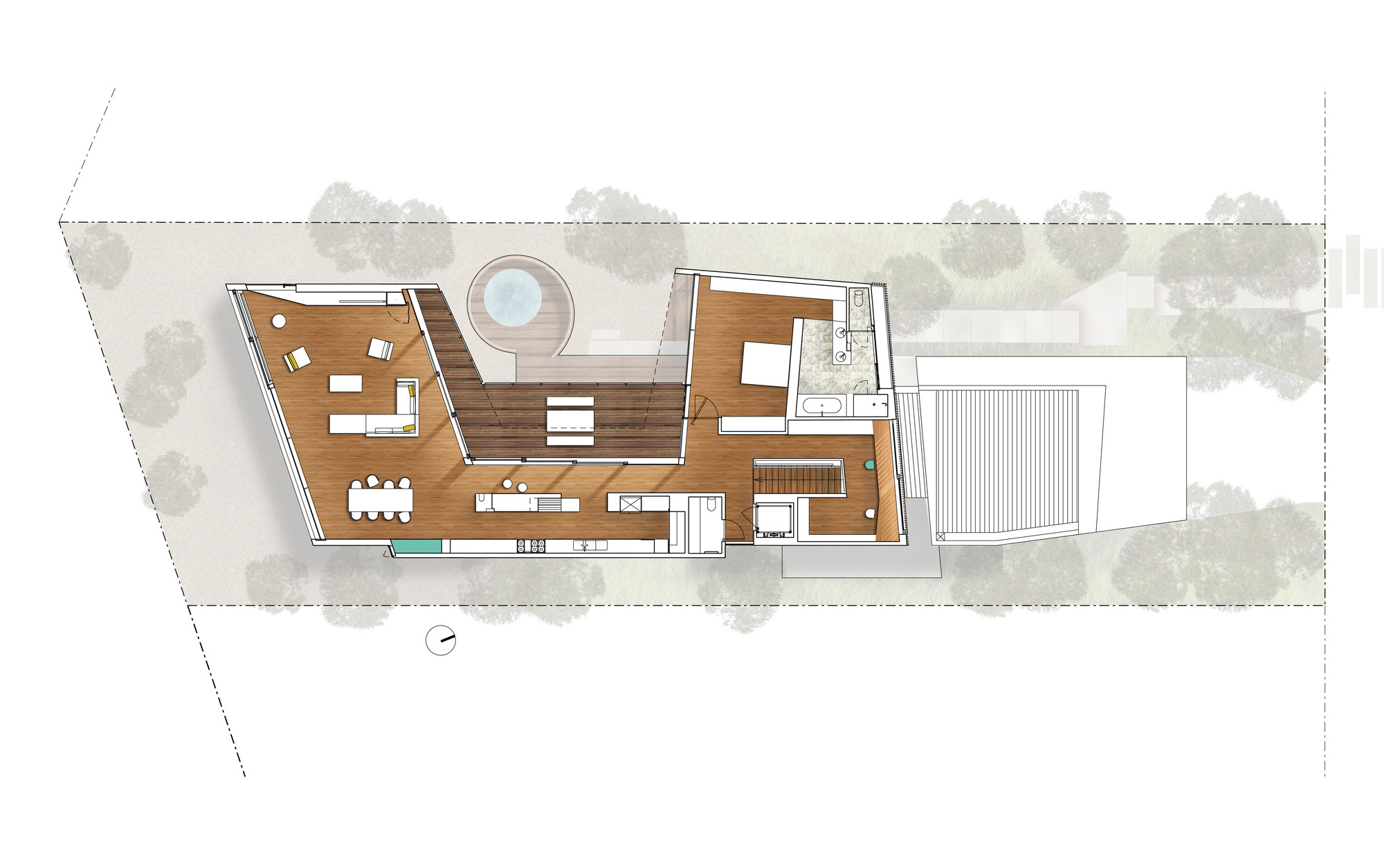 queenscliff residence john wardle architects archdaily first floor plan