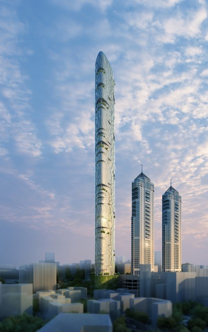 Adrian Smith and Gordon Gill Architecture Unveils Proposal for Mumbai's Tallest Tower, © Adrian Smith and Gordon Gill Architecture