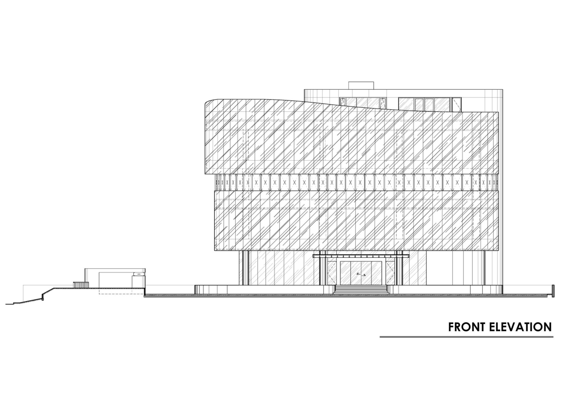 Front Elevation Of Furniture Showroom : Gallery of eau building hmp architects