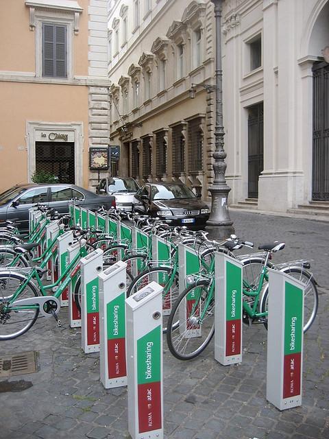 Bike-Share in Rome; © Flickr User DearEdward; Licensed via Creative Commons