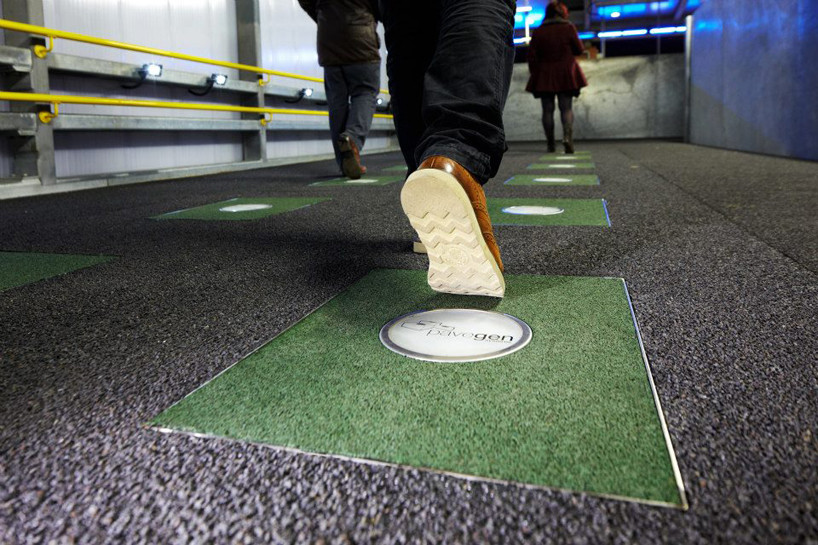 Could A Sustainable Source of Energy Be Right Beneath Our Feet? , Courtesy of Pavegen, via Design Boom
