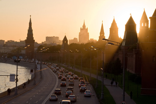 Currently, many of Moscow's motorways are occupied more as motorways than public space. Image via shutterstock.com