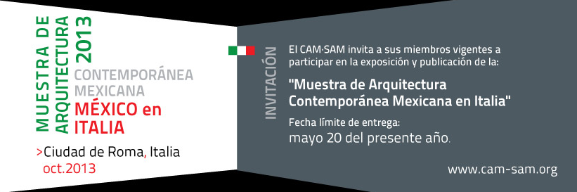 Muestra de Arquitectura Contemporánea Mexicana en Italia , Courtesy of CAMSAM