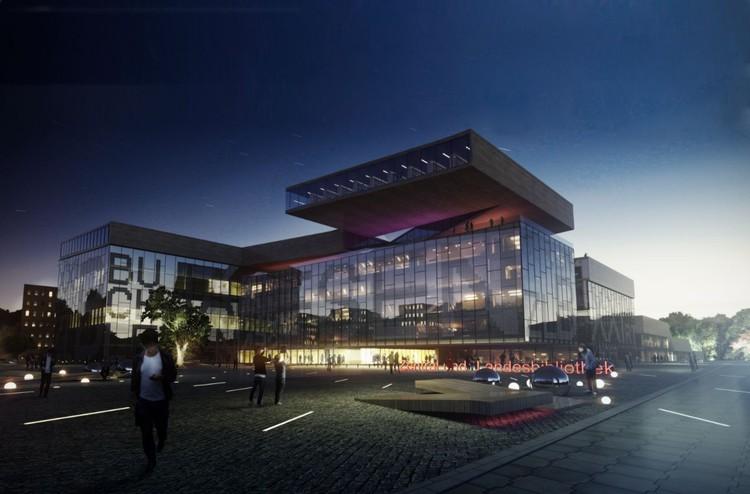 Proposta vencedora para Nova Biblioteca Central em Berlim / Envés Arquitectos, © 24studio