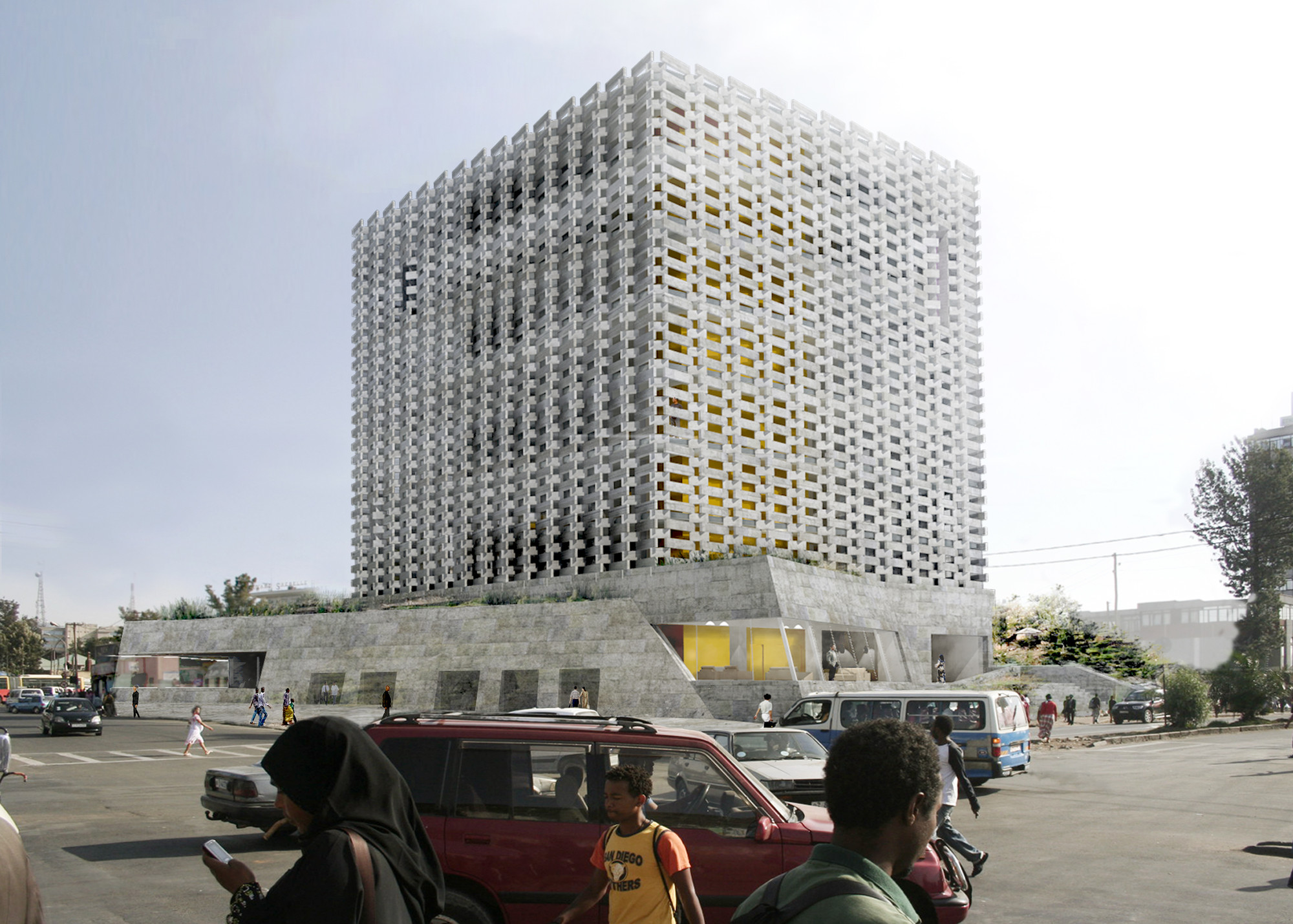 Addis Abeba Chamber of Commerce Headquarters Winning Proposal / BC Architects, Courtesy of BC Architects, ABBA architects, and Adey Tadess