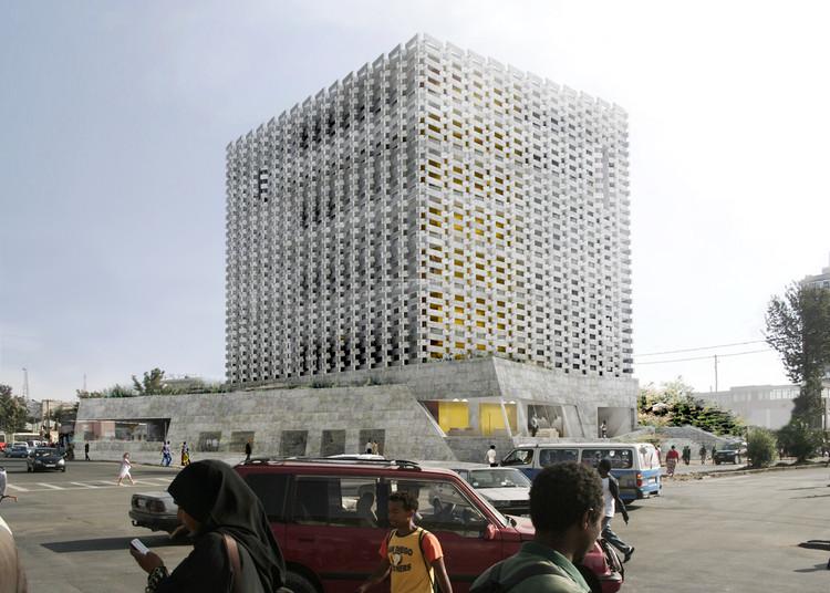 Proposta Vencedora para a Sede da Câmara de Comércio de Addis Abeba / BC Architects, Cortesia de BC Architects, ABBA architects, e Adey Tadess