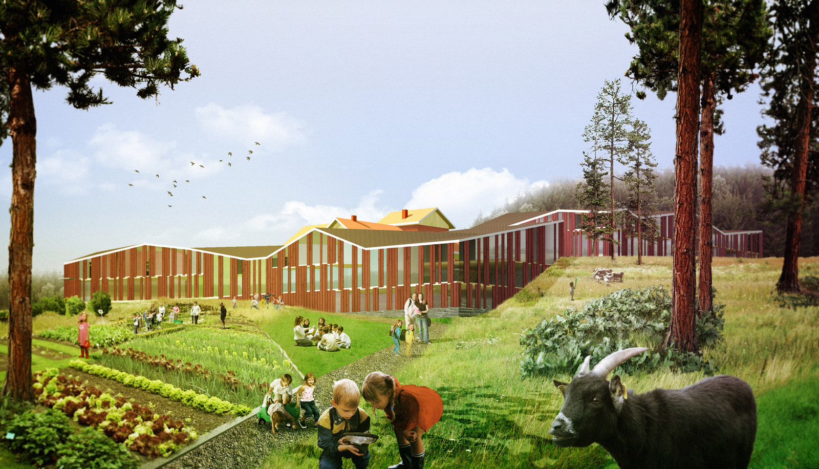 Hämeenkyrö Environmental School Competition Entry / Hyperbuildings, Courtesy of Hyperbuildings