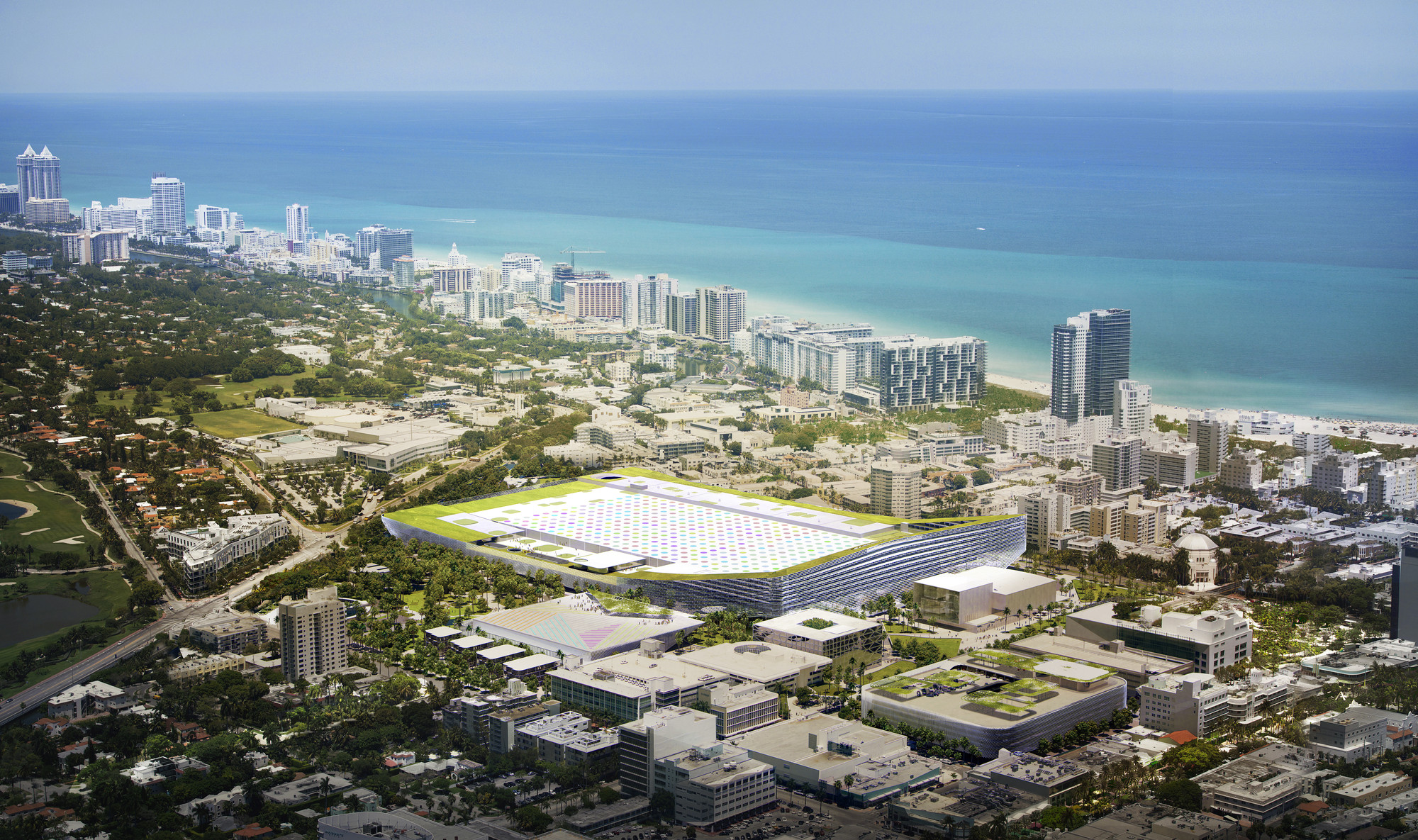 BIG Unveils Design for Miami Beach Convention Center , Courtesy of BIG