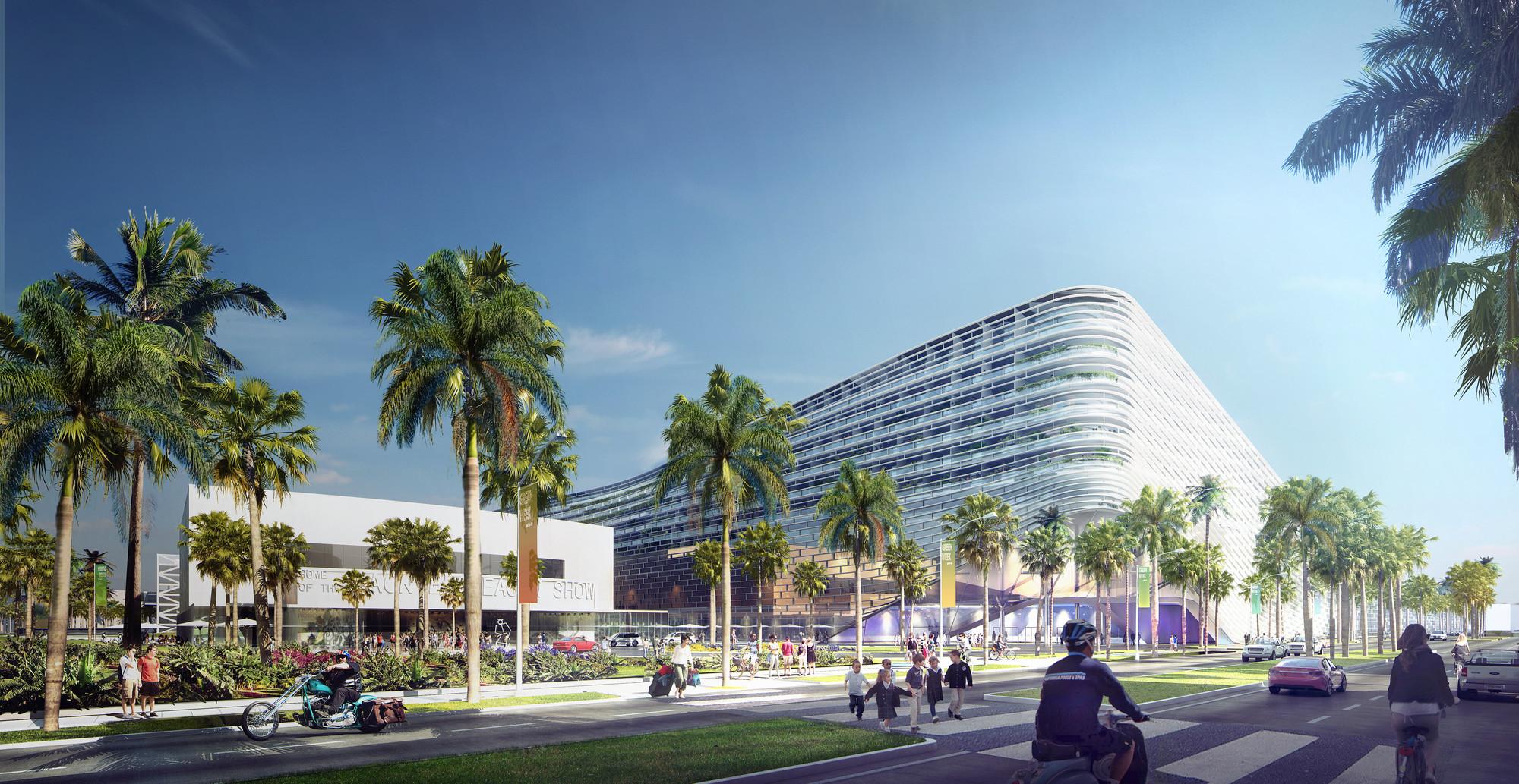 Unveils Design For Miami Beach Convention Center Courtesy Of