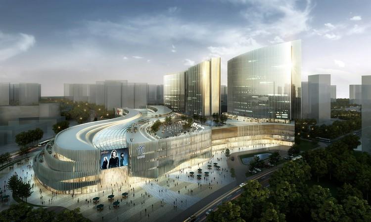 Proposta Vencedora para Planejamento de Uso Misto Xiamen Wu Yuan Wan / Aedas, Cortesia de Aedas