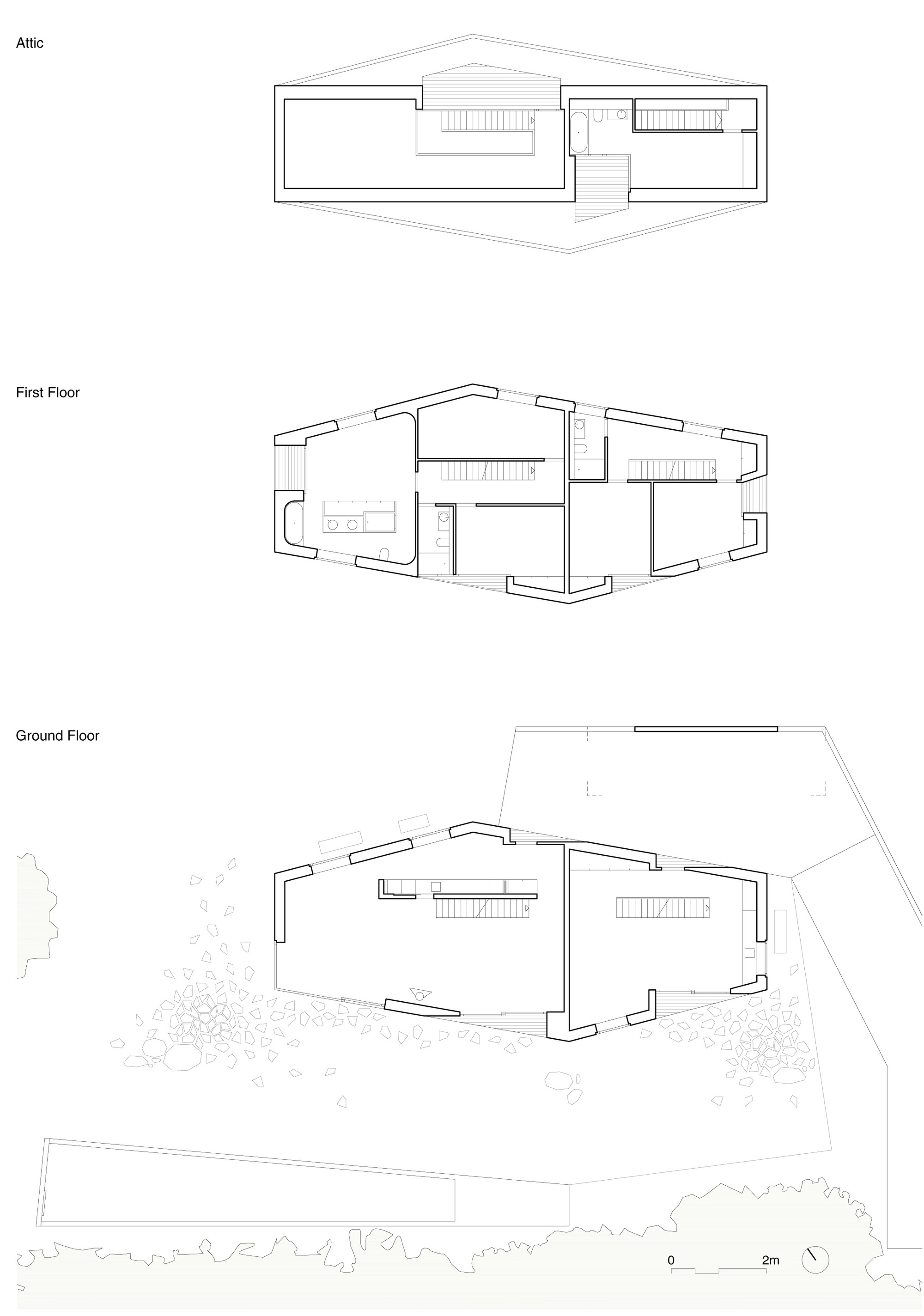 superb two in one house plans #6: Two in One House / Clavienrossier Architectes