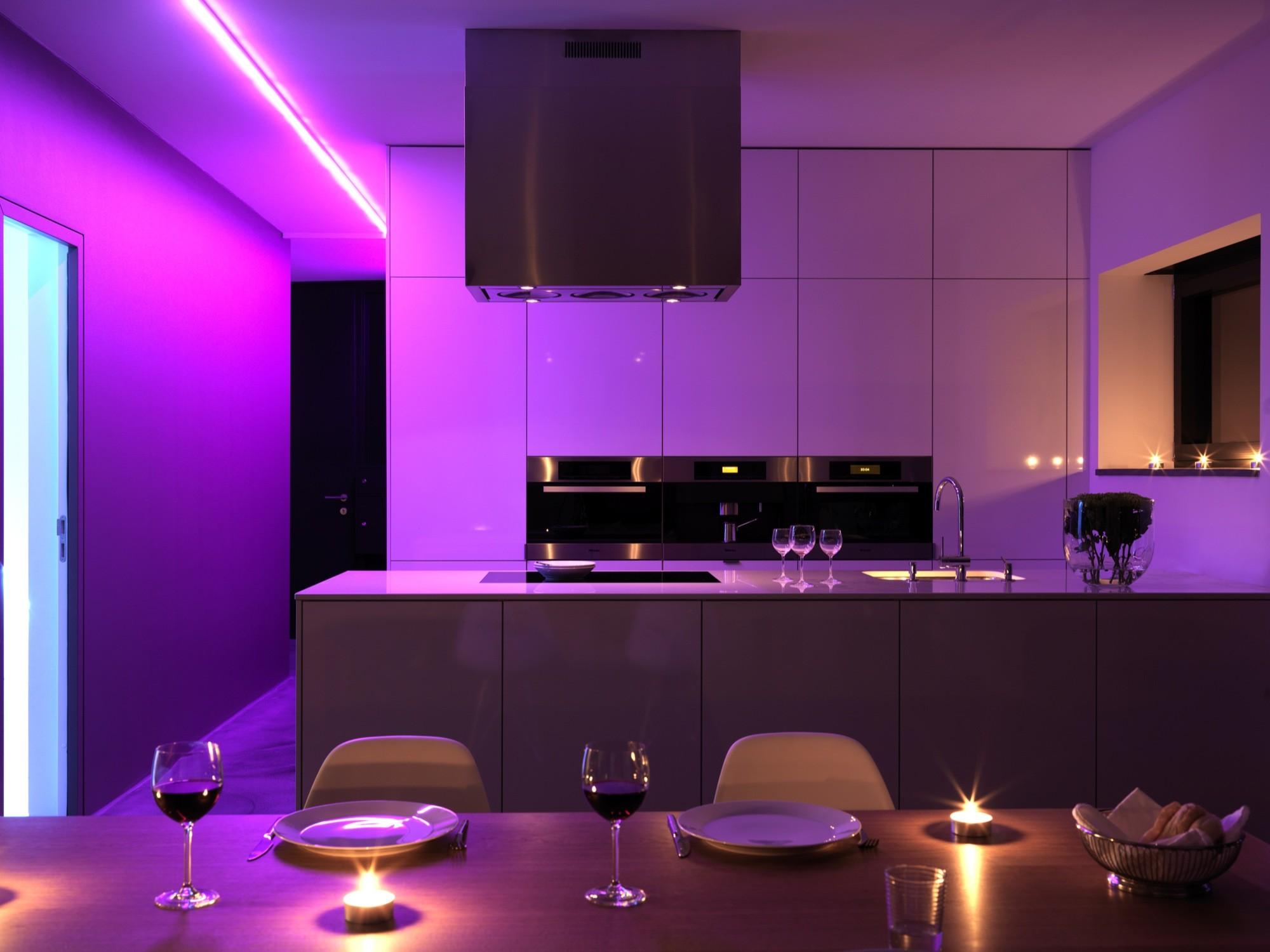 Light Pink Walls In Kitchen