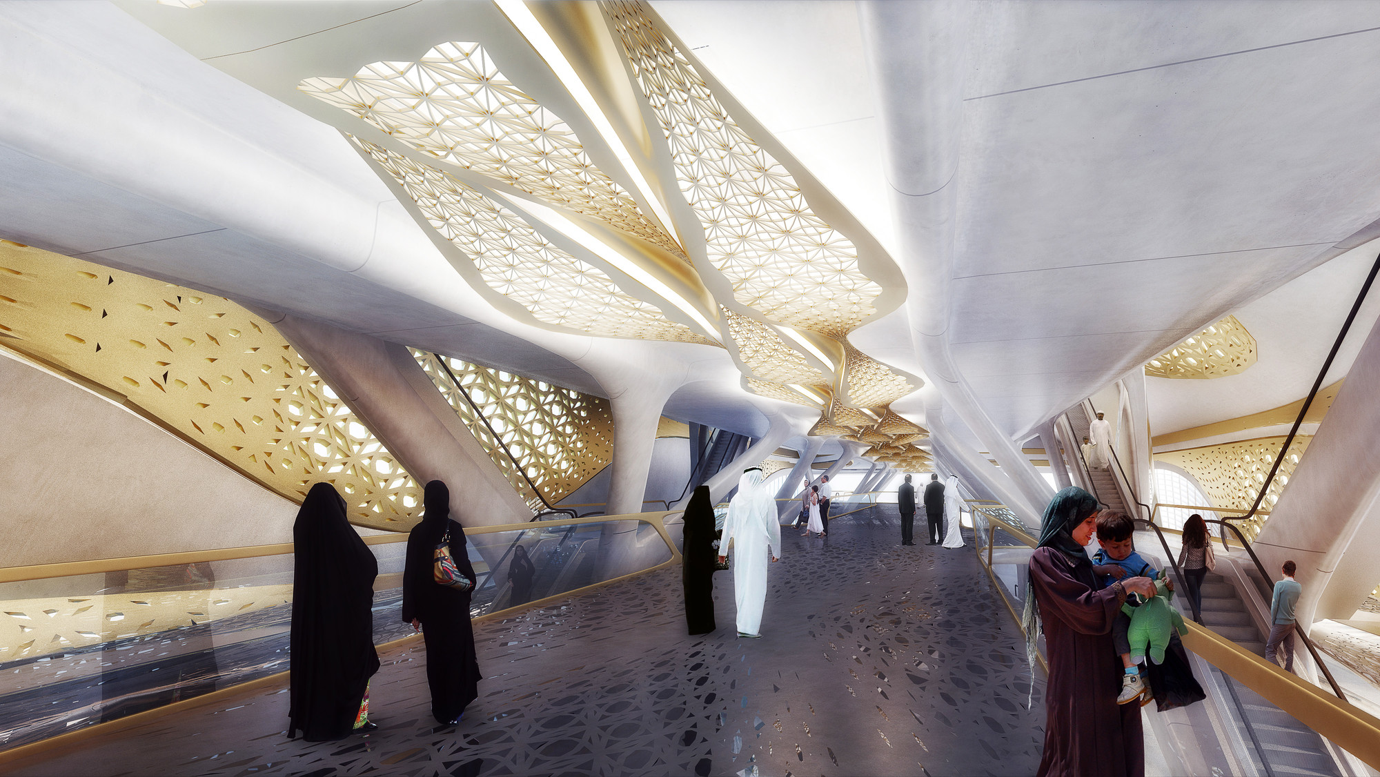 Zaha hadid architects selected to design the king abdullah for Avant garde interior design ideas