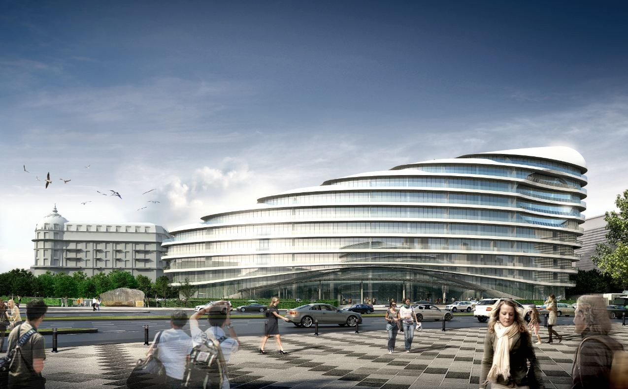 Gallery Of Baku White City Office Building Proposal Adec