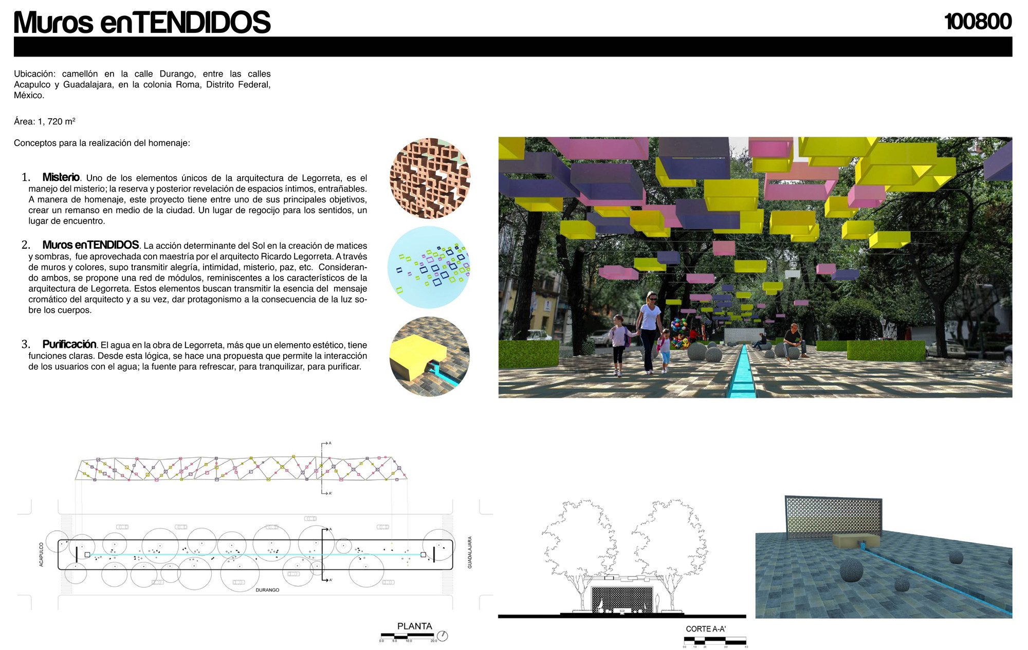 Ganadores del Concurso Internacional Homenaje Urbano Legorreta + FUGA , 1er Lugar