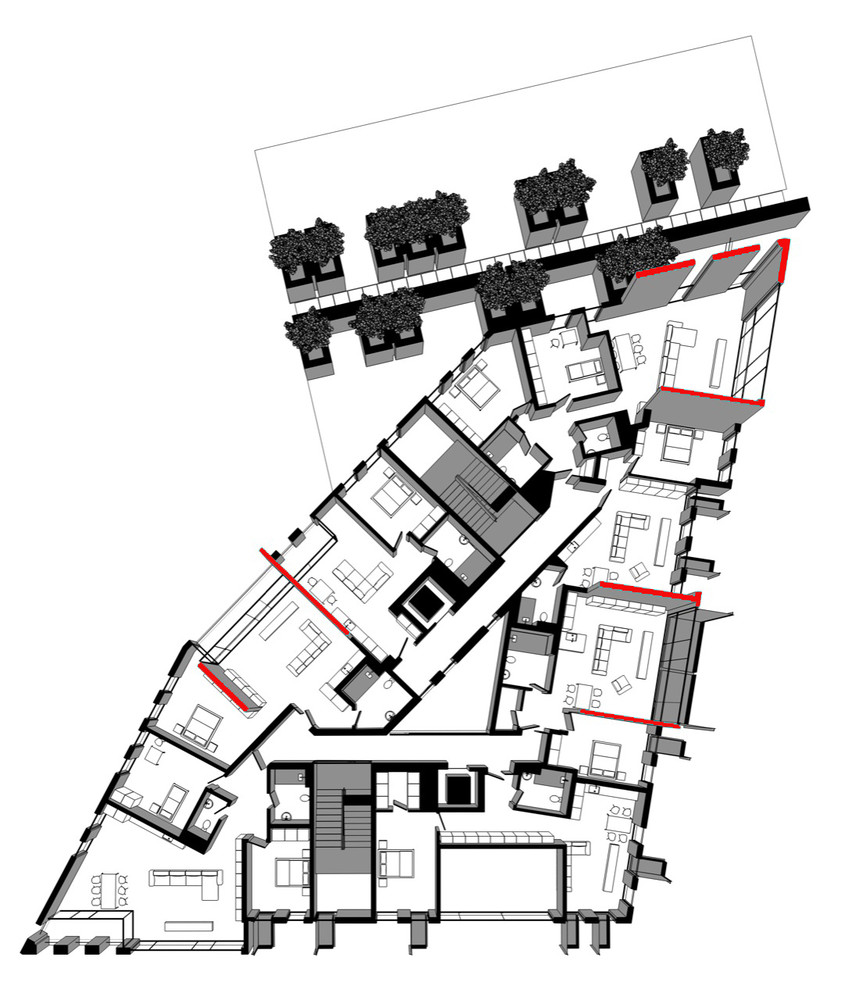 Gallery of Red Apple Apartment Building / Aedes Studio - 31