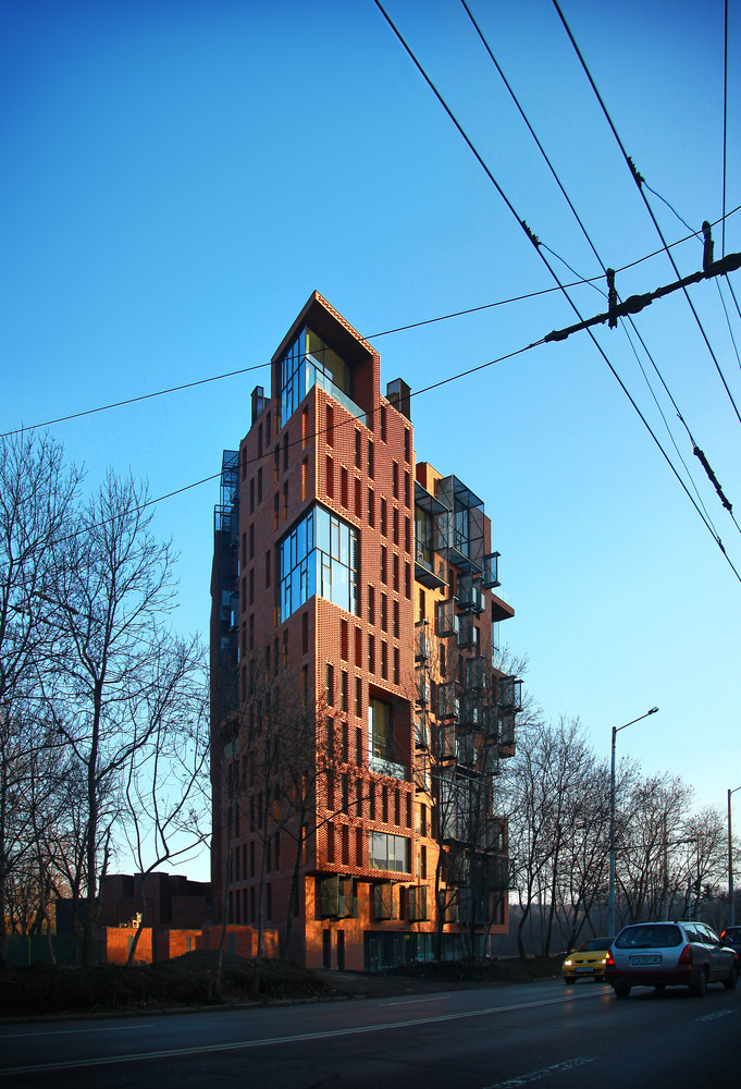 Studio Apartment Building gallery of red apple apartment building / aedes studio - 4