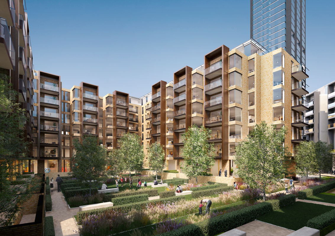 Foster + Partners Reveals Residential Community Project for London, High-Rise Residential Community © Foster + Partners