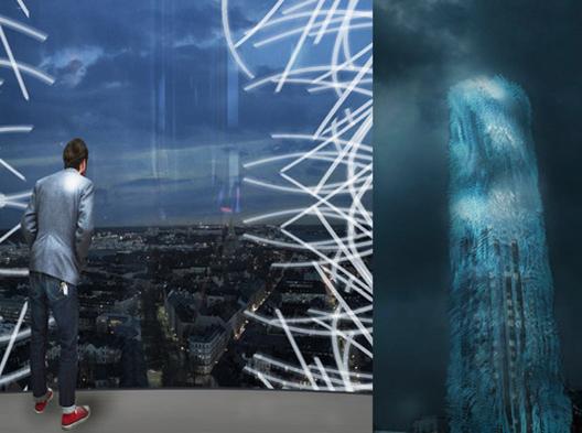 """Strawscaper: Rascacielos en Suecia propone """"cosechar"""" la energía del viento a través de una fachada cinética"""